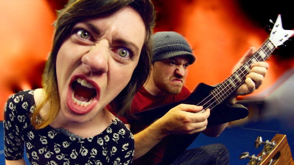 Musicians Rob Scallon and Sarah Longfield Perform a Ukulele Cover of Slayer's Song 'Payback'