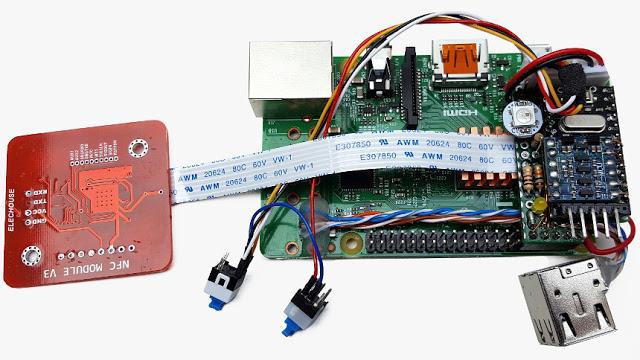 NESPi Raspberry Pi and NFC Module
