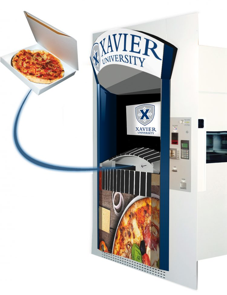 Pizza ATM at Xavier University