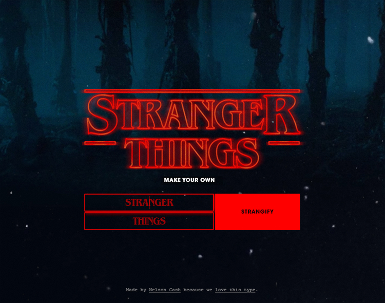 A Stranger Things Type Generator That Lets You Create Your Own Stylized Title Cards