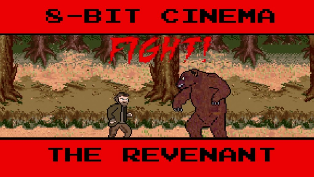The Revenant Retold as an Old-School 8-Bit Animated Video Game