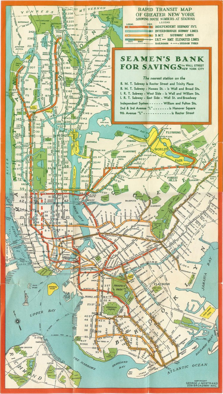 A Seamans Bank for Savings Subway Map Offers a Nostalgic View of