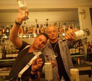 Bill Murray Tending Bar