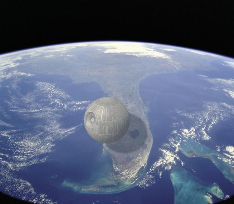 Death Star Over Earth