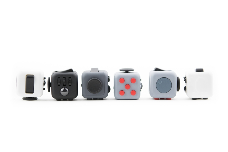 Fidget Cubes in a Row