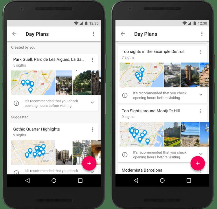 Google Trips Day Trips