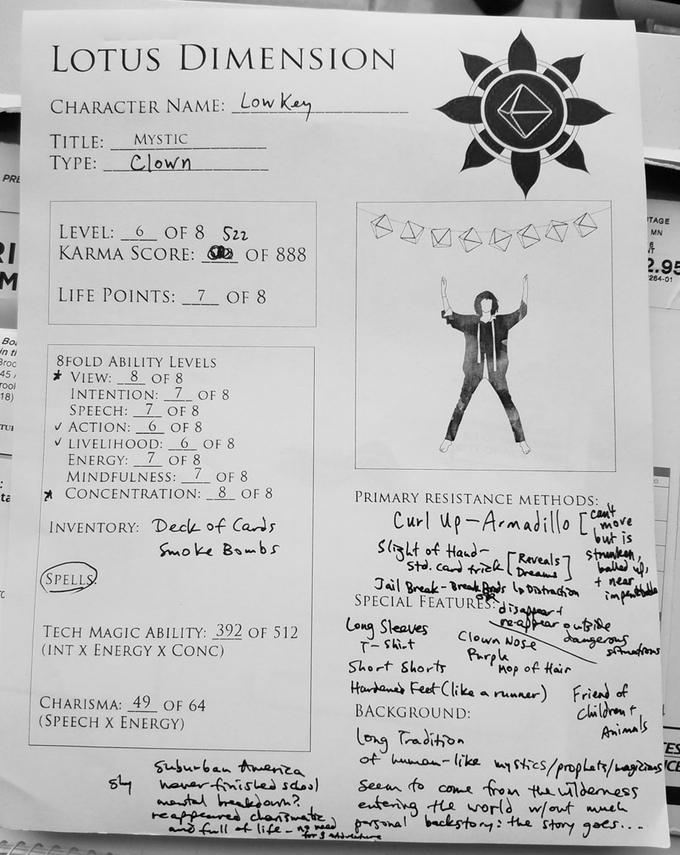 Lotus Dimension Character Sheet