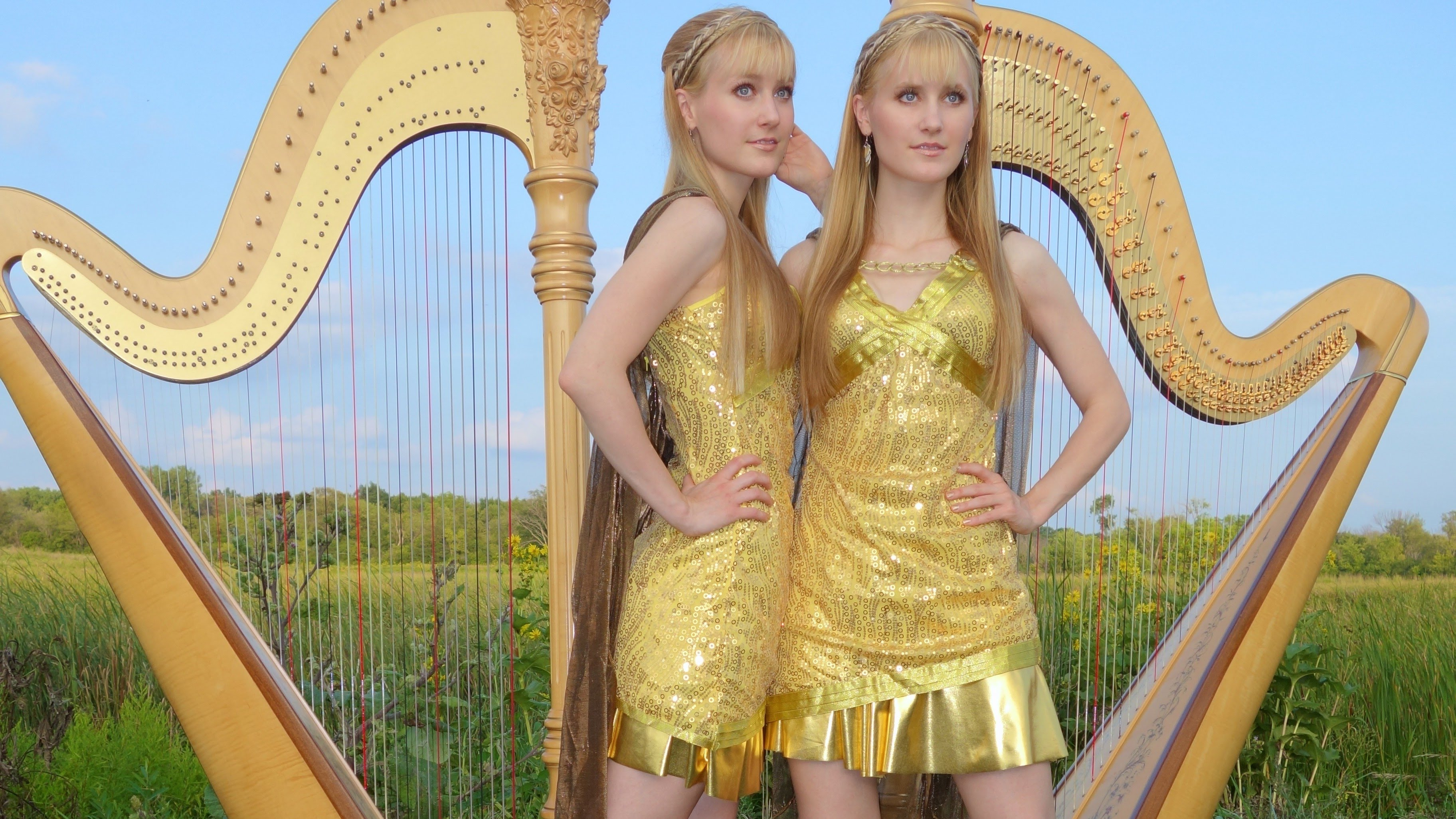The Harp Twins Perform A Cover Of The Now We Are Free Theme Song
