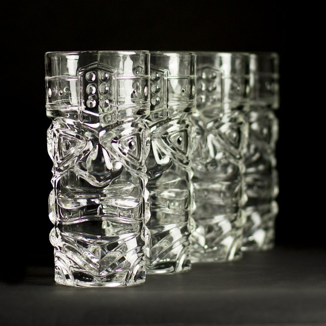 Tiki Glasses Clear