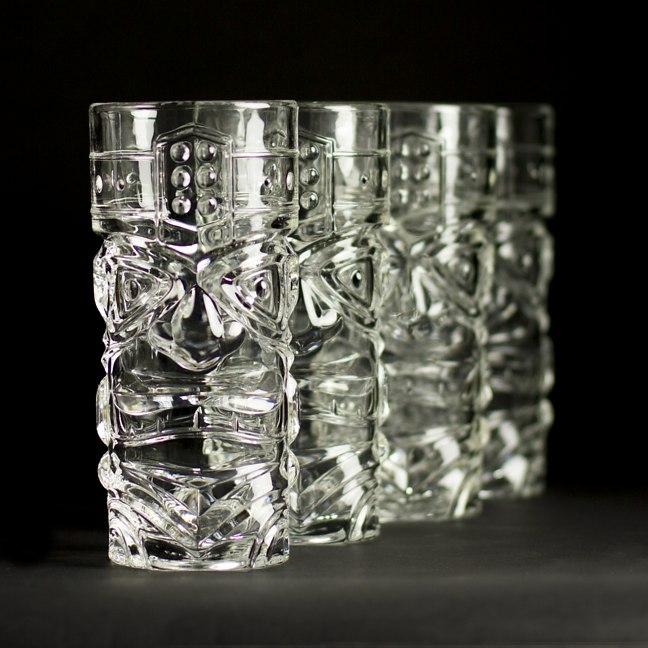 Tiki Glasses Clear