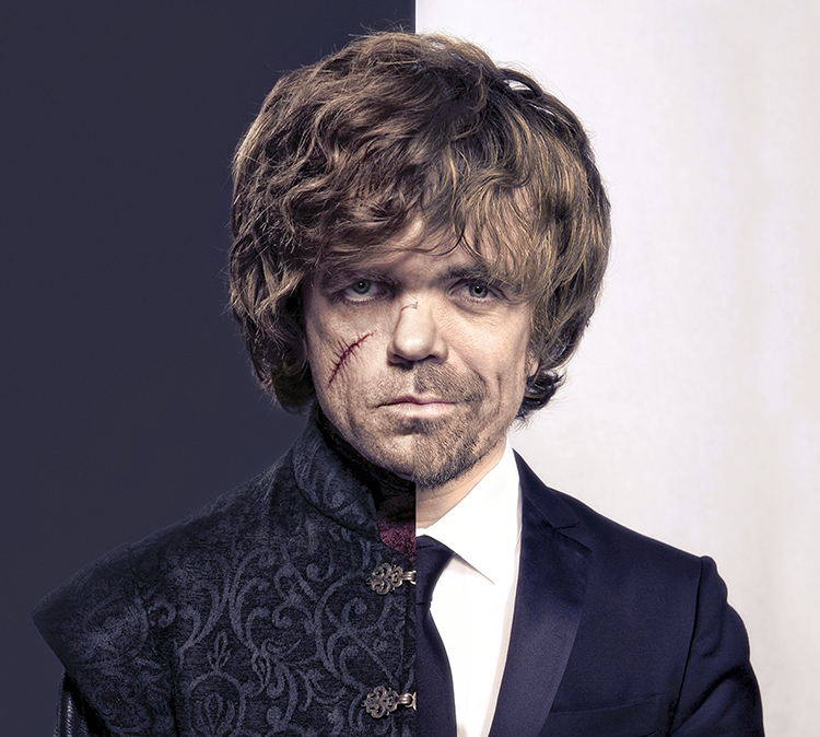 Tyrion Lannister and Peter Dinklage