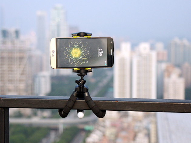 Armor X Tripod and Phone on Railing