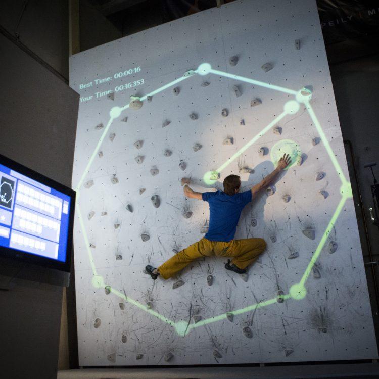 Augmented Climbing Wall Clock