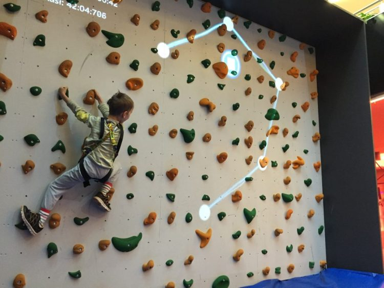 Augmented Climbing Wall Kid