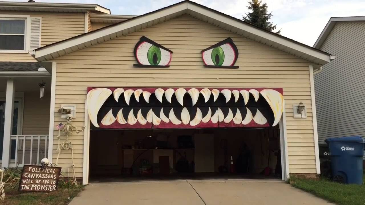 Cleveland Woman Transforms Her Garage Door Into a Monster With Chomping Teeth for Halloween & Cleveland Woman Transforms Her Garage Door Into a Monster With ...