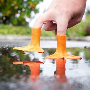 Duck Feet Finger Puppets