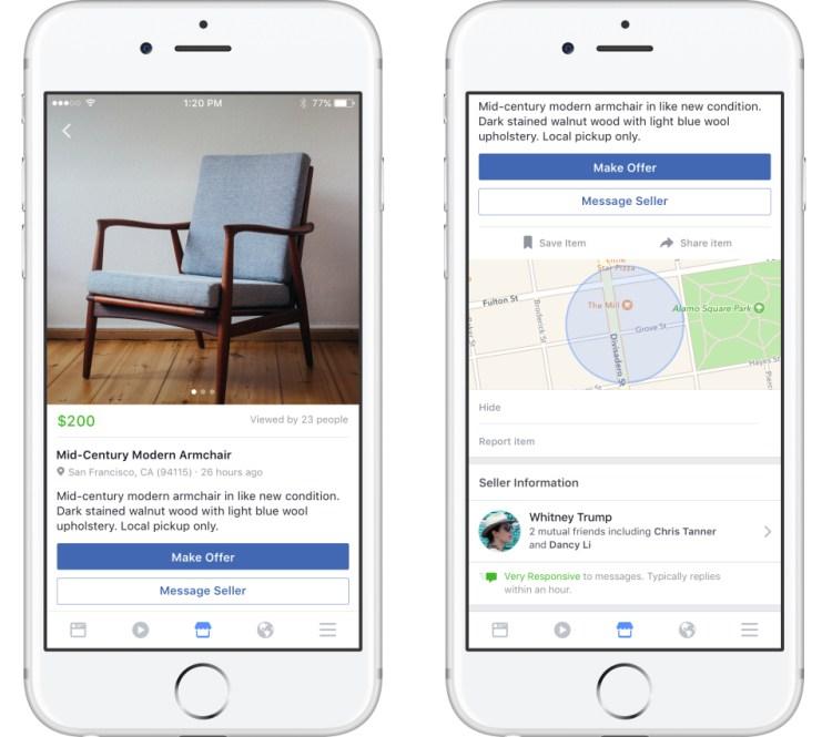 Facebook Messenger App Screens