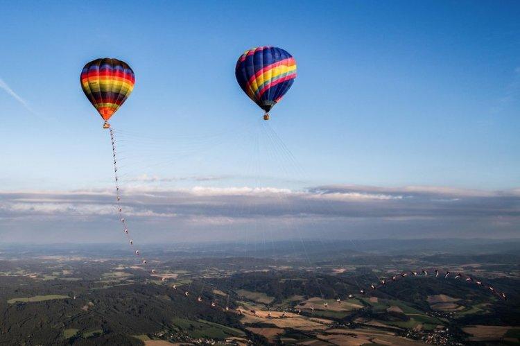 Hot Air Balloon Swing Step Printed