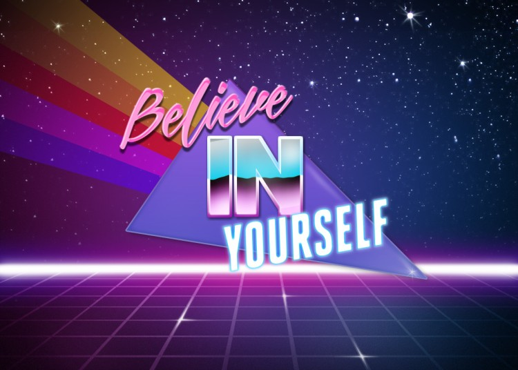 Create 1980s Style Soundtrack Word Art With Retro Wave Text