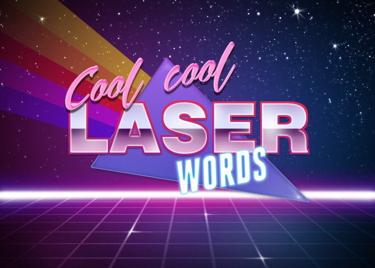 Photofunia Cool Cool Laser Words