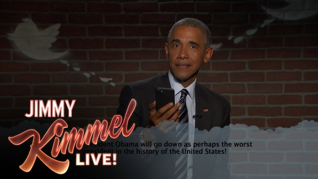 President Barack Obama Reads More Mean Tweets About Himself on Jimmy Kimmel Live