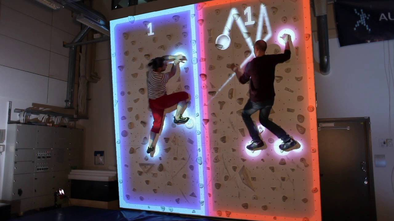 Augmented climbing wall combines rock climbing with augmented augmented climbing wall combines rock climbing with augmented reality projection body tracking gumiabroncs Choice Image