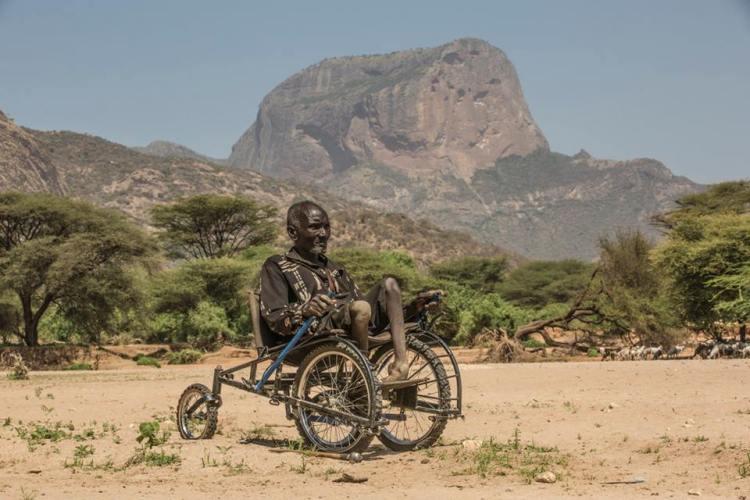 SafariSeat and Man