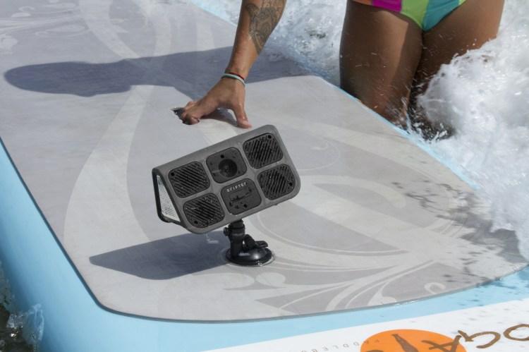 Drifter Mounted on Surfboard