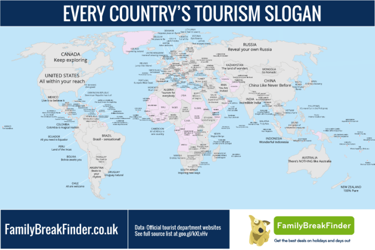 The creativity of tourism slogans from countries all around the world