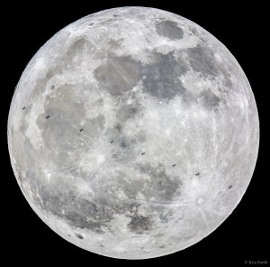 ISS and Supermoon