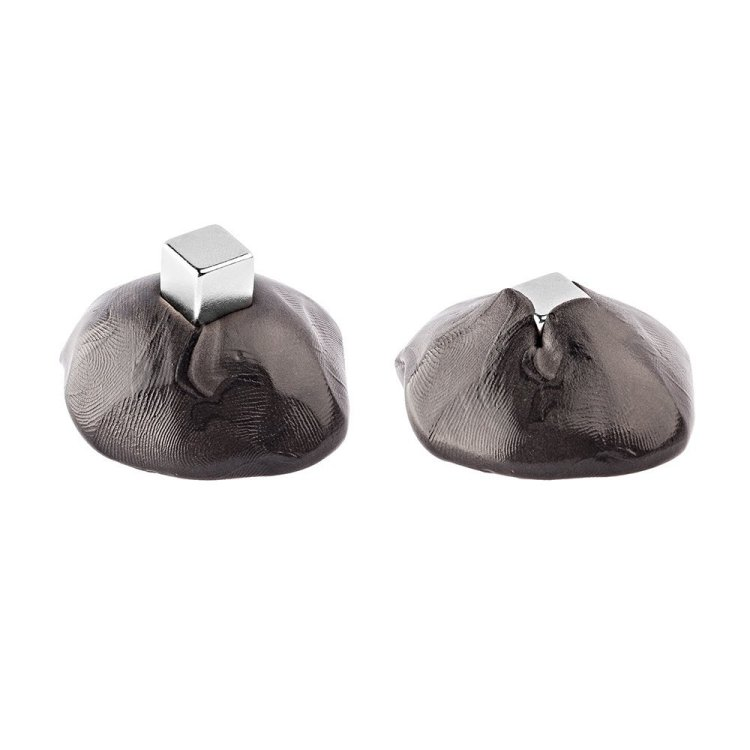 Magnetic Putty Swallowing a Magnet