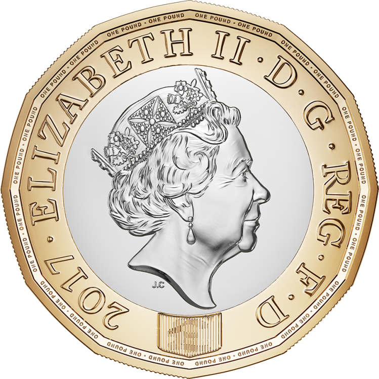 One Pound Coin Front