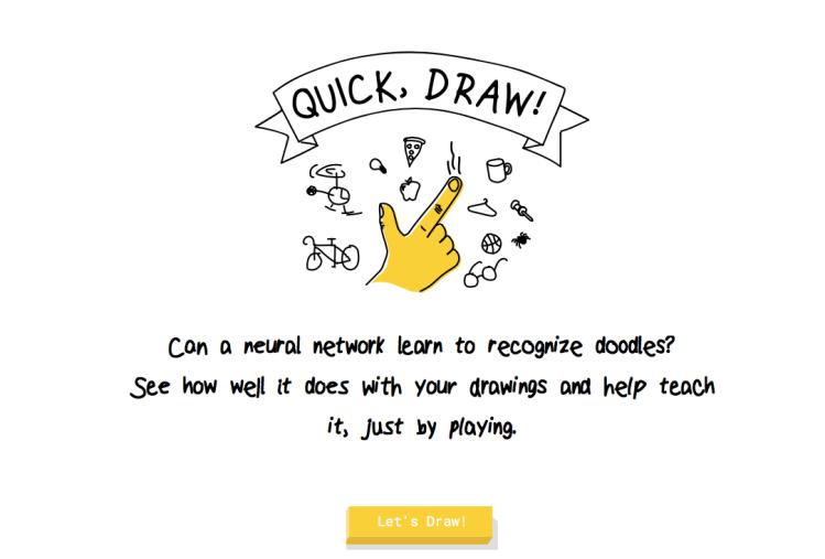 Quick Draw Start Screen