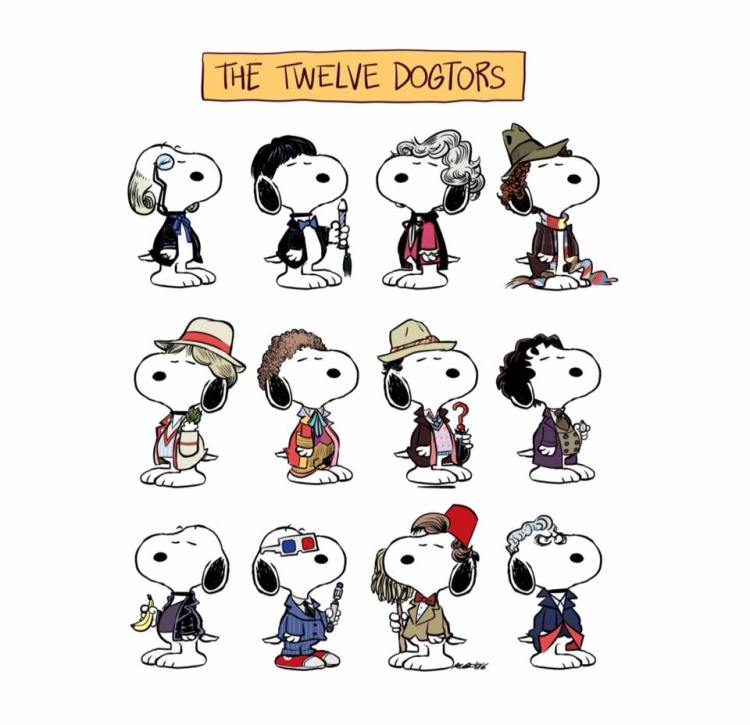 The 12 Dogtors, Charlie Brown's Dog Snoopy as Each of the