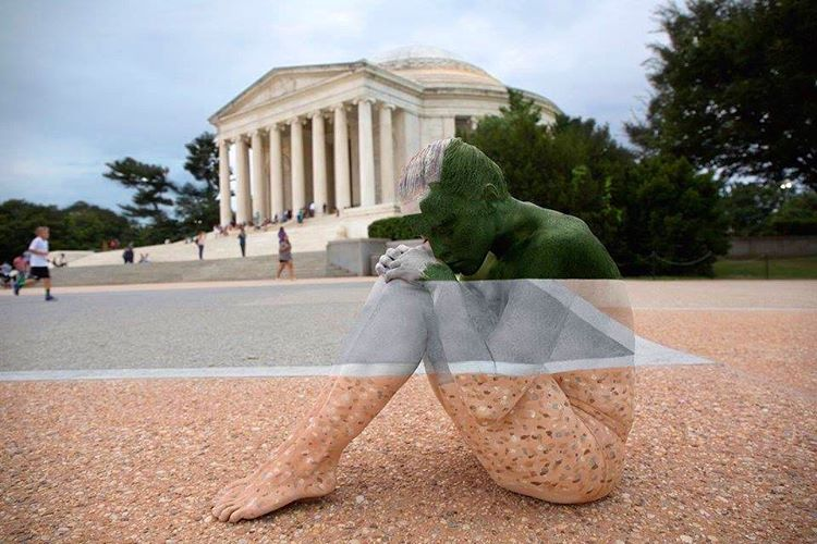 Sweet Land of Liberty, Body Painted Models Blend Seamlessly Into Historical American Landmarks