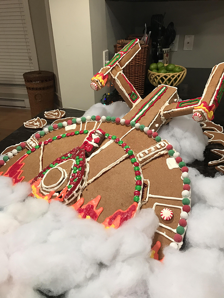 starship gingerbread