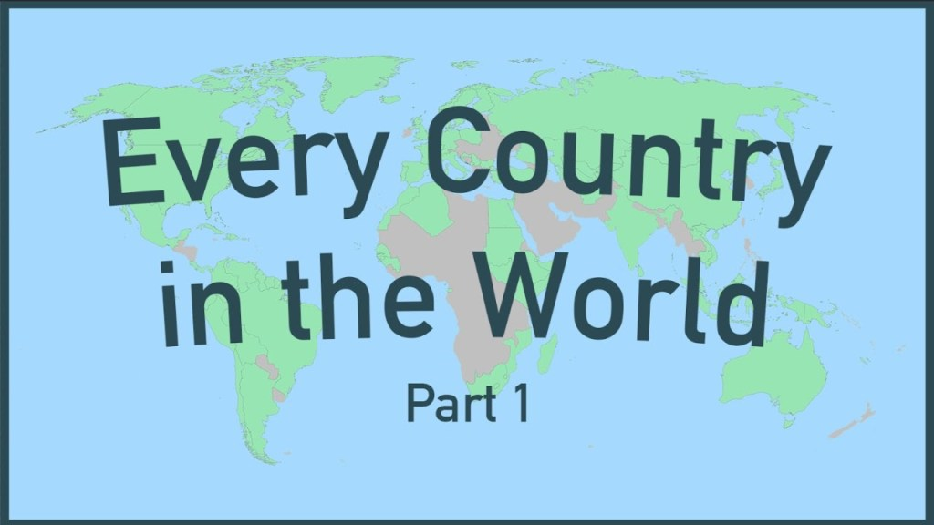 A Two Part Video Series Featuring Quick and Interesting Facts About Every Country in the World