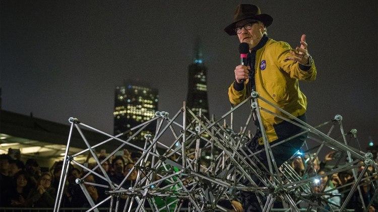 Adam Savage Builds a Pedal-Powered Walking Strandbeest Inspired by Artist Theo Jansen