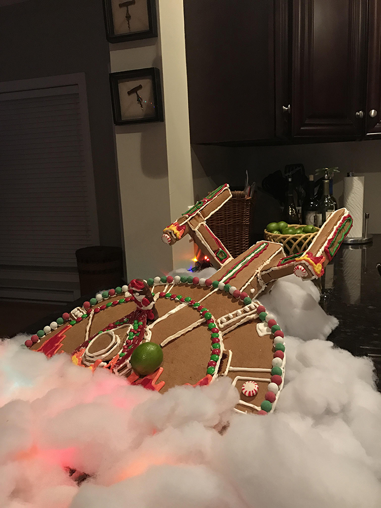 starship gingerbread