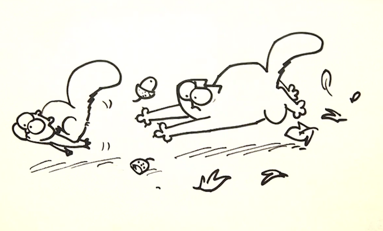 Simon's Cat Chases an Acorn-Flinging Fleeing Squirrel In Order to Explain Why Felines Like to Hunt