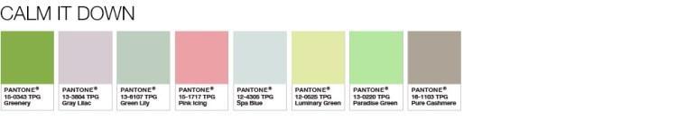 Greenery Calm It Down Palette