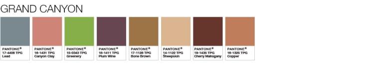 Greenery Grand Canyon Palette