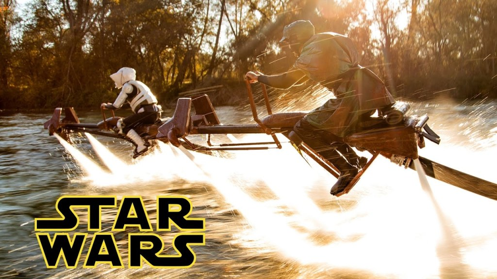 Hydropower Jetovators Turned Into Speeder Bikes for a Real-Life, Wet and Wild Star Wars Battle