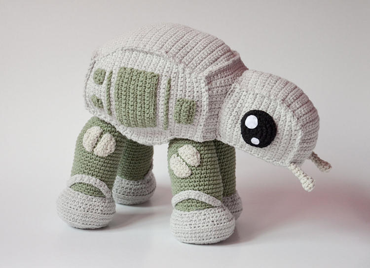 Amigurumi Elephant Pattern : Adorable star wars at at walker crochet pattern