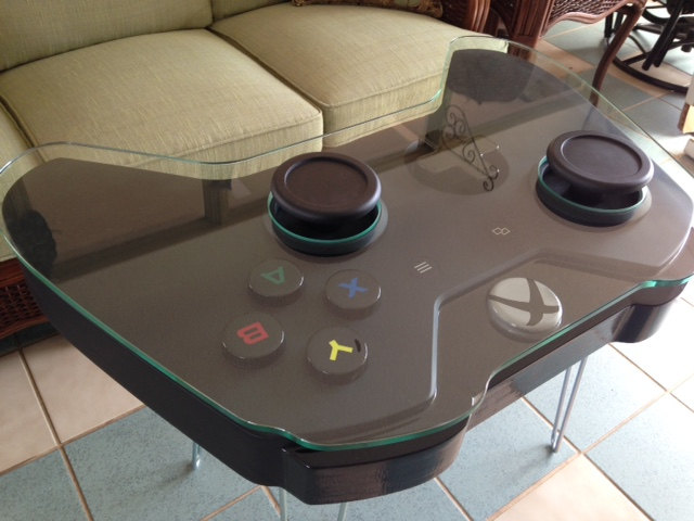Wonderful Handmade Xbox One and PlayStation 3 Game Controller Coffee Tables