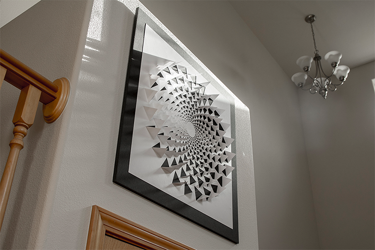 A Mind Bending 3D Optical Illusion Wall Art Made Using One Sheet of ...