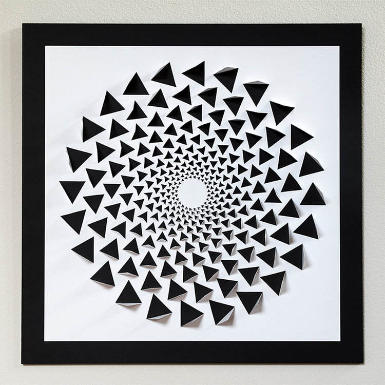 Wall Art Using Paper : A mind bending d optical illusion wall art made using one