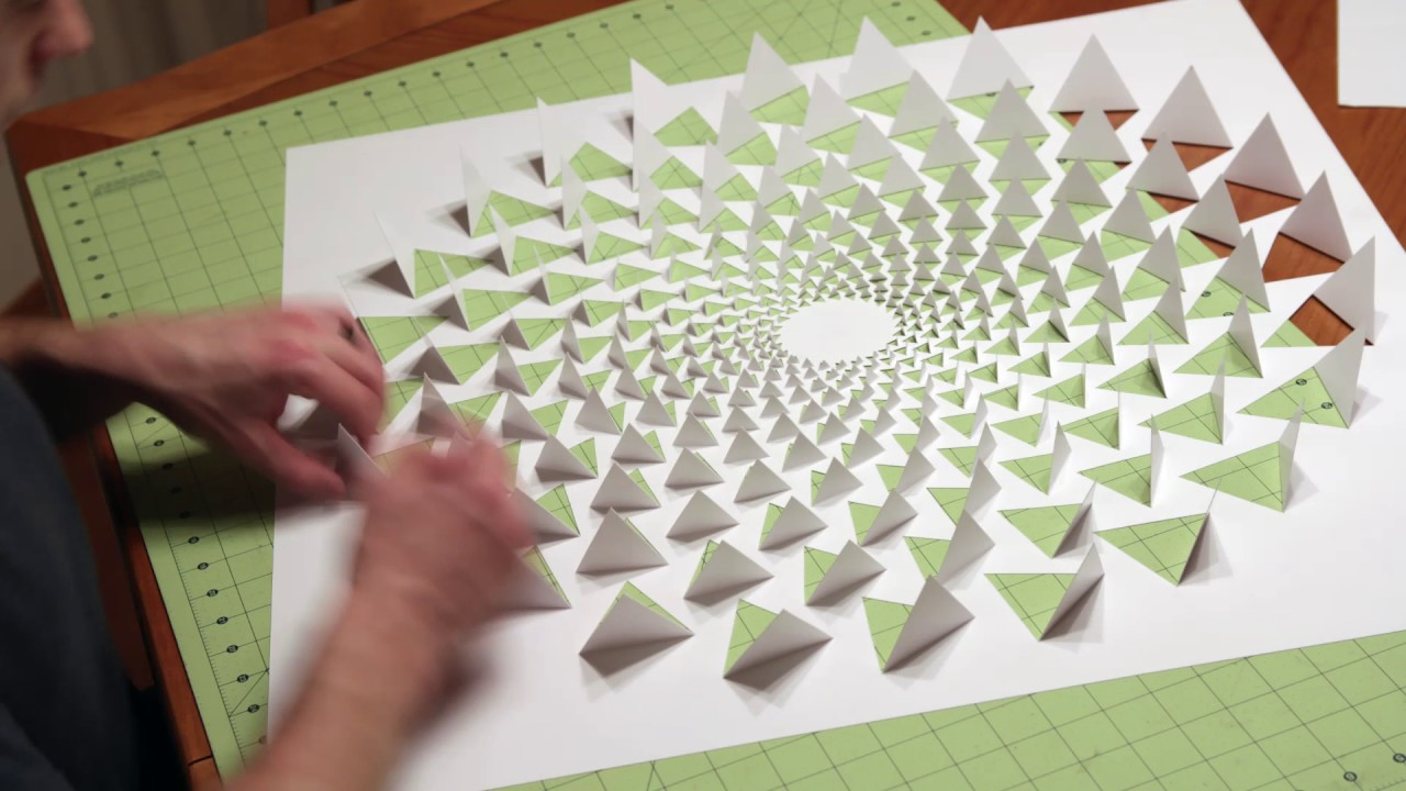 A Mind Bending 3D Optical Illusion Wall Art Made Using One Sheet of Paper