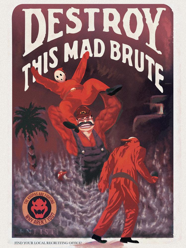 Super Mario Bros. World War II Propaganda Posters