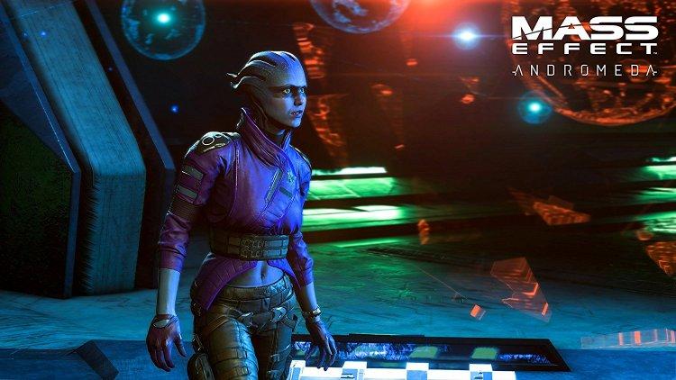 Mass Effect: Andromeda Alien in Purple Jacket